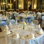 Eco friendly table centrepieces for event flowers or wedding flowers Birmingham UK