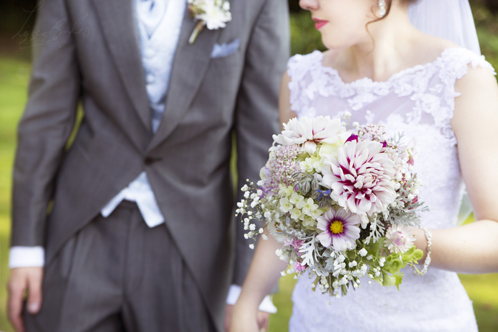 Dahlia wedding bouquet for a Worcestershire wedding.