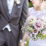 Natural English country garden style flowers, locally grown for weddings in the West Midlands.