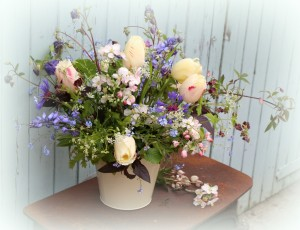 large natural flower arrangements for events. Bespoke event flowers in Birmingham and the West Midlands.