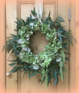 Fresh Christmas Wreaths made to order by Tuckshop Flowers, Birmingham UK