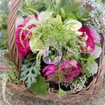 English rose bridal bouquet for Alcott Weddings tipi wedding