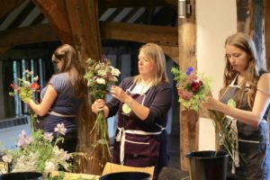 Flowery magic happens at Tuckshop Flowers Wedding Flowers Workshop during British Flowers Week, June 2017