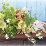 bridal bouquet with English country garden flowers by Tuckshop Flowers, Birmingham