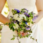 Natural wildflower wedding bride's bouquet for Spring by Tuckshop Flowers Birmingham. British flowers for wildflower weddings in Birmingham, West Midlands, Worcestershire and Warwickshire