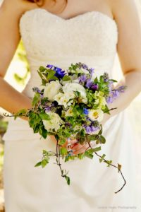 Wildflower wedding bride's bouquet. Natural wedding flowers in Birmingham, West Midlands, Worcestershire and Warwickshire