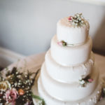 Simple wedding cake decorations. A Marks and Spencers Wedding cake decorated by Tuckshop Flowers.