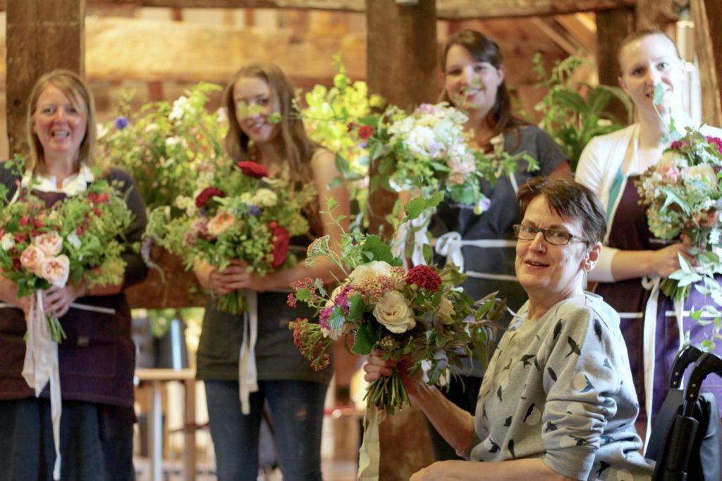 Wedding flowers workshop for British Flowers Week 2017. Tuckshop Flowers Birmingham