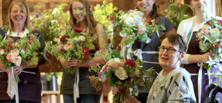 Wedding flowers workshop for British Flowers Week 2017. Tuckshop Flowers Birmingham