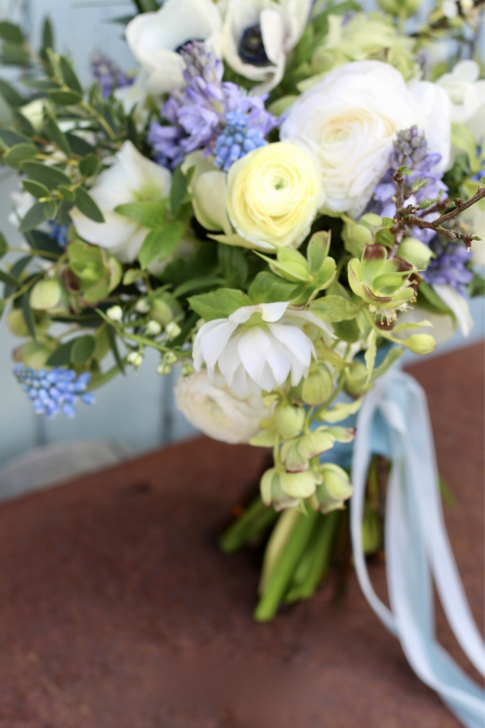 Bouquet for a blue and white spring wedding with bluebells bouquet for a blue and white spring wedding with bluebells ranunculus and anemones mightylinksfo