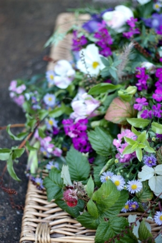 Wildflower style for natural and green funerals by Tuckshop Flowers, Birmingham