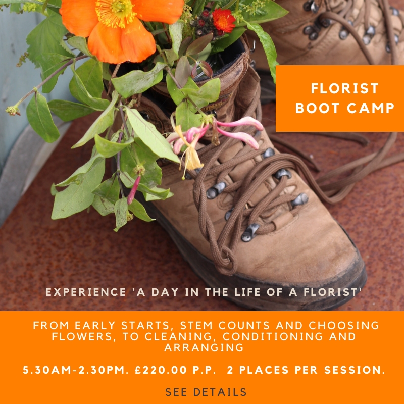Career change floristry course. A day in the life of a florist taster workshop