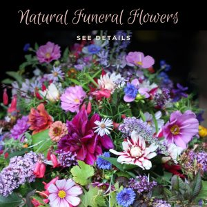 Natural funeral flowers floristry and business workshop Birmingham March 2020