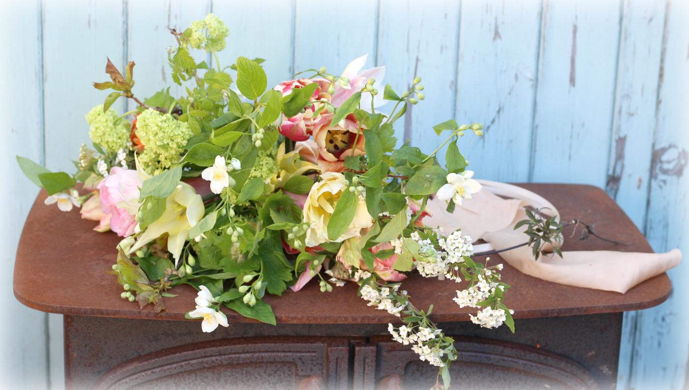 spring bouquet with heirloom silk ribbon – TUCKSHOP FLOWERS