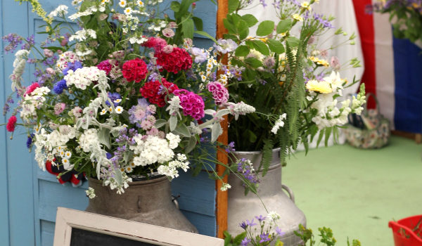 Flowers from the Farm's British flowers display at BBC Gardeners World Live 2017
