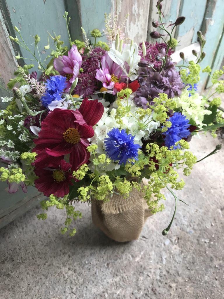 Seasonal wildflower style funeral tributes for eco-friendly farewells.  Tuckshop Flowers Birmingham